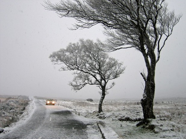 a wintry morning in ireland