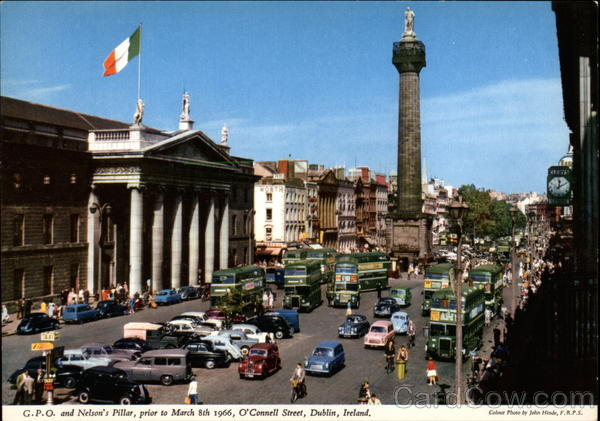 Post Office and O'Connell Street - Post Office and Nelson's Pillar