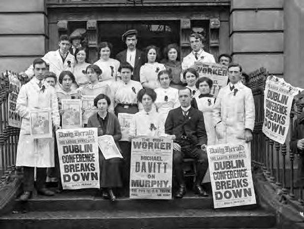 Members of the Irish Women Workers Union (IWWU) at its Dublin headquarters