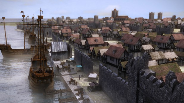 Medieval Dublin City Quays - Historical