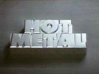 Hot Metal tv show/series, metal badge logo