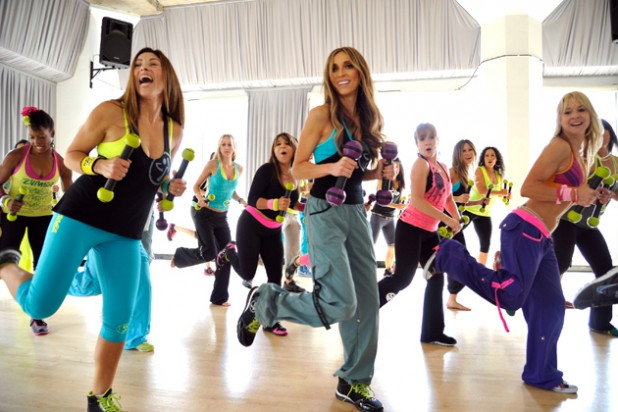 HOLLYWOOD, CA - JULY 18:  Giuliana Rancic takes a Zumba Toning class, one of Zumba's new programs that tones and sculpts the entire body while still maintaining the fun fitness-party vibe on July 18, 2012 at the International Dance Academy in Hollywood, California.  (Photo by Eric Charbonneau/WireImage)